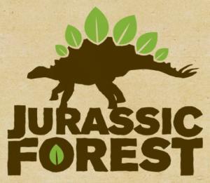 Jurassic Forest logo - dinosaur