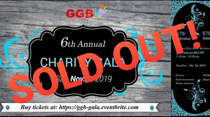 GGB's 6th charity gala is sold out!